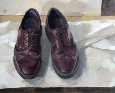 Chris Dolans Shoes Oil On Board 30 X 46 Cm £1600 00