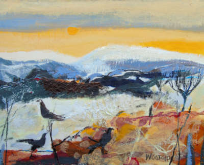 Christine Woodside Rws Rgi December Afternoon Fife  Mixed Media On Board £400 00Web