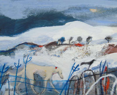 Christine Woodside Rws Rgi Winter Walk Fife  Mixed Media On Board £400 00Web