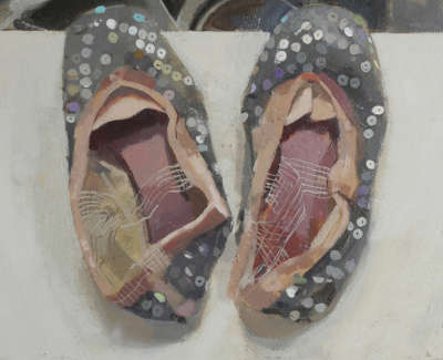 Cinderellas Slippers Nbt Oil On Board 25 5 X 25 5 Cm £1200 00