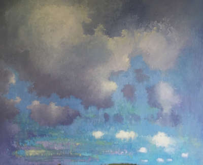 Clouds Hills Oil On Panel 70 X 70 Cm £2500 00
