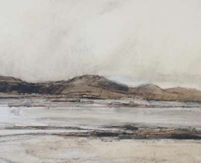 Clouds Sanna Bay Chalk And Pencil On Handmade Paper 30 X 84 Cm