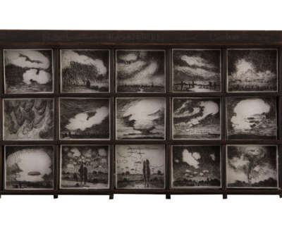 Clouds  Etchings On Somerset Paper In Vintage Type Case 28 X 15 X 2 5 Cm