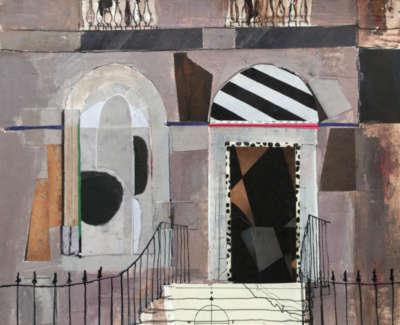 Corner Of Heriot Row Edinburgh 19 X 18 Cm £325