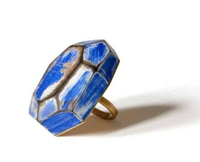 Cristina Zani My Seoul Gold And Blue Ringweb