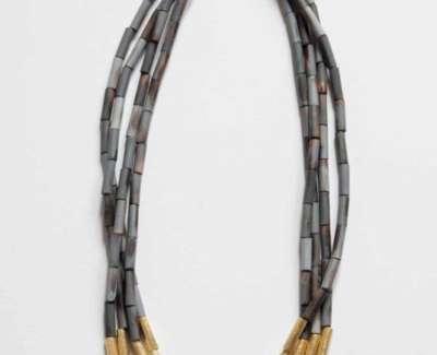 Cristina Zani My Seoul Gold And Grey Necklaceweb