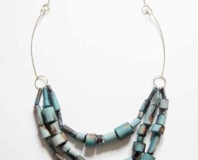 Cristina Zani My Seoul Gold And Turquoise Necklaceweb