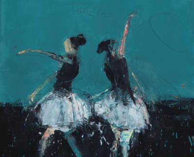Dance I Cinderella 2017 Oil On Canvas 50X45Cm