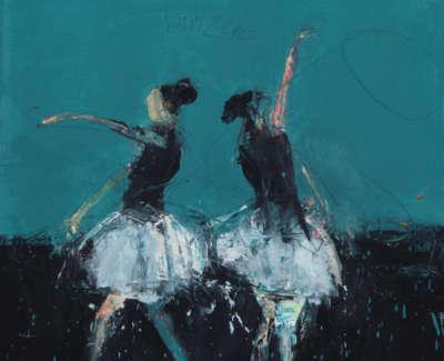 Dance I Cinderella 2017 Oil On Canvas 50X45Cm