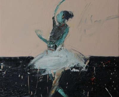Dance Movement I 2017 Oil On Canvas 30X30Cm