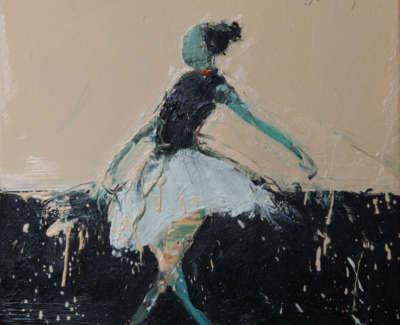 Dance Movement Ii 2017 Oil On Canvas 30X30Cm