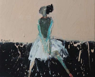 Dance Movement Iv 2017 Oil On Canvas 30X30Cm