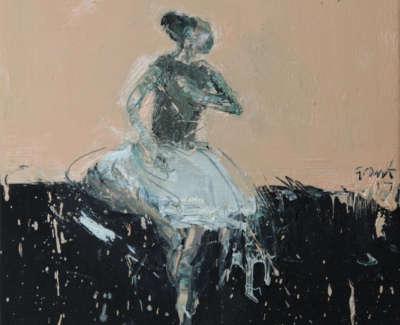 Dance Movement Ix 2017 Oil On Canvas 30X30Cm
