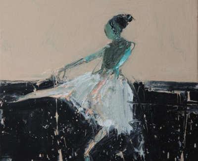 Dance Movement V 2017 Oil On Canvas 30X30Cm