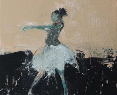Dance Movement Viii 2017 Oil On Canvas 30X30Cm