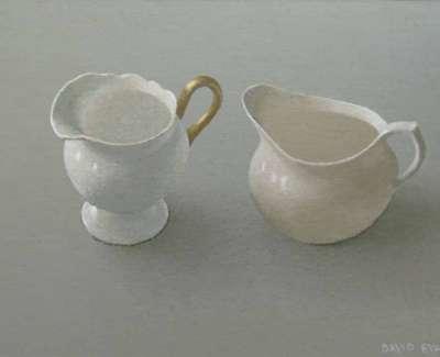 David Evans Two Small Cream Jugsweb