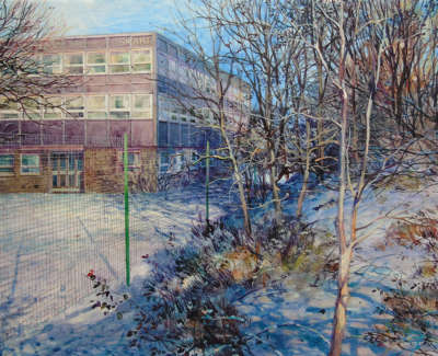 David Foster Rsw  Robbers Came Out Of The Thicket Davidsons Mains Acrylic On Gesso On Card 15 X 21 Cm £460 00