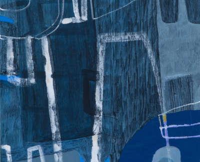 Doerr Blue Tuesday Acrylic On Board 38 X 36Cm
