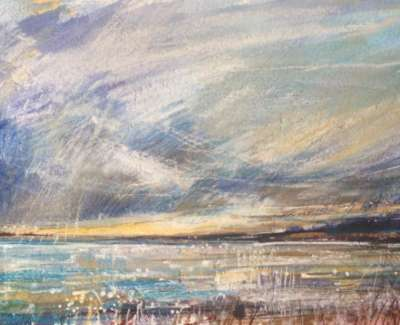 Dusk Longniddry Mixed Media 14 X 28 Cm