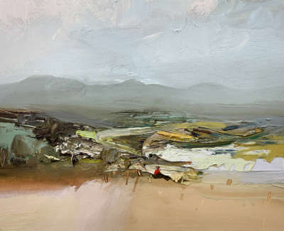 Early Autumn The Hill Of Fayre Oil On Board 30X40Cm £1350