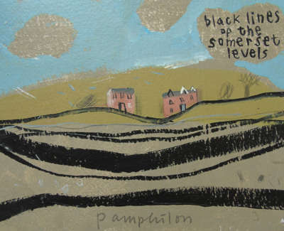 Elaine Pamphilon  Black Lines Of The Somerset Levels  Mixed Media On Board 15 X 21 Cm £260 00