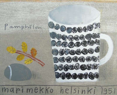 Elaine Pamphilon  Marimekko Helsinki 1951  Mixed Media On Board £250 00Web