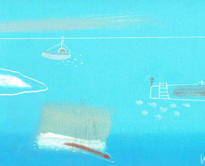 Fi Wallace Velarde Little Boat In Hope Cove  Monotype £130 00