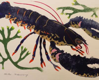 Framed Lively Lobster 1 Of 8 Web
