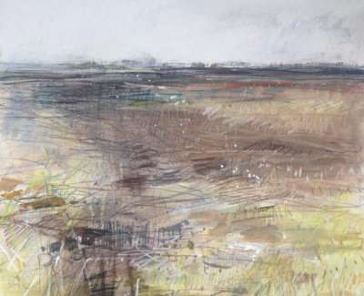 Field And Sky Chalk And Pencil 26 X 31 Cm
