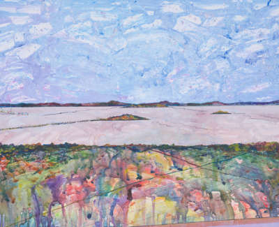 Firth Of Forth From Lauriston Castle Acrylic On Card 90 X 64 Cm £1000