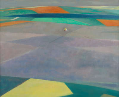 Flight Over Yellow Field Oil 1977 76 X 91 Cm