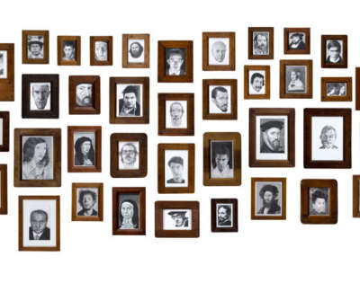 Forty Portraits Graphite On Paper Dimensions Variable