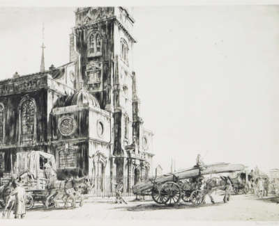 Francis Dodd St  Clement Danes The Strand