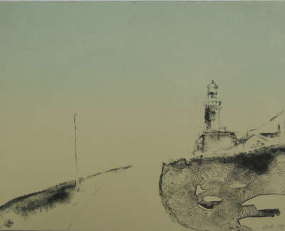 Gill Tyson Arranhouse Island Lighthouse  Lithograph £110 00