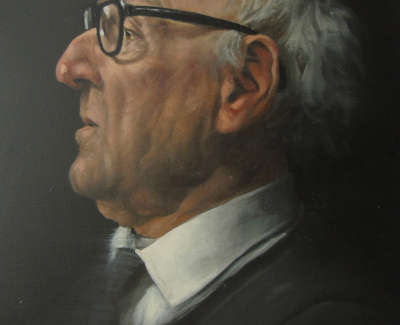 Graeme Wilcox Old Boy 1  Oil On Board £900 00