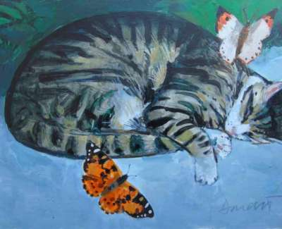 George Donald Cat And Painted Ladyweb