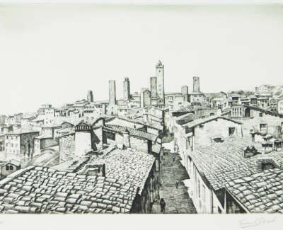Graham Barry Clilverd Roofs Of San Gimignano