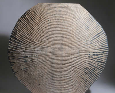 Grooved Disc Limed And Scorched Oak 50Cm