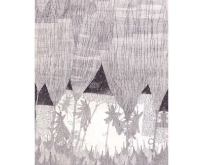 Heather Walker Falling From Trees Technical Pencil On Japanese Tissue 102X74 5Cm