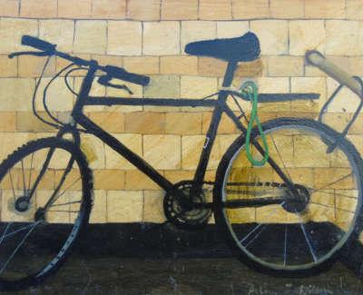 Helen Wilson Rsw Rgi Pai  Bike  Oil On Board £450 00Web