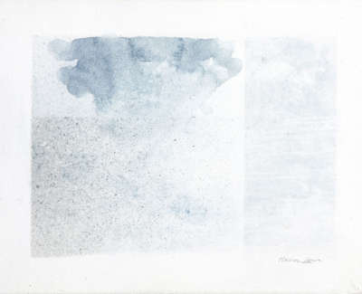 Horizon Cloud  Watercolour On Canvas 30 X 40 Cm £800 00