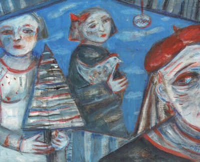 Joyce W Cairns Rsa Rsw  Memories Of Christmas Past  Gouache On Board