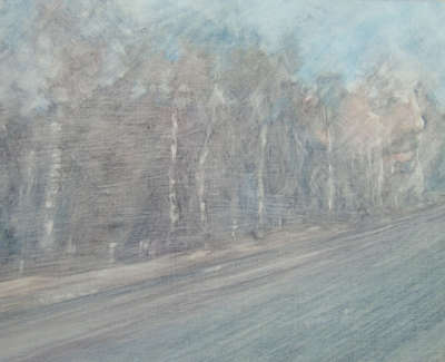 Jackie Anderson Shotts Line 5 Study Oil On Cotton On Board £195 00Web