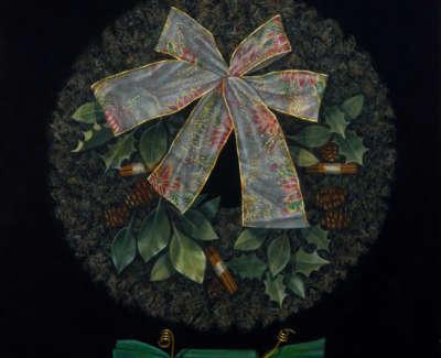 James Fairgrieve Rsa Rsw Ruths Wreath I Acrylic On Gesso On Canvas 61 X 61 Cm £3500
