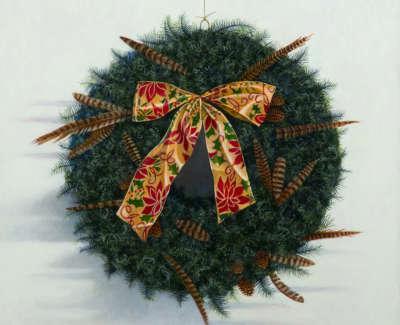 James Fairgrieve Rsa Rsw Ruths Wreath Ii Acrylic On Gesso On Board 61 X 61 Cm £3500