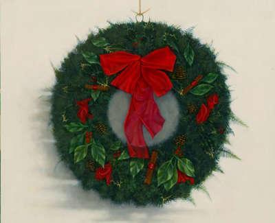 James Fairgrieve Rsa Rsw Ruths Wreath Iii Acrylic On Gesso On Board 61 X 61 Cm £3500