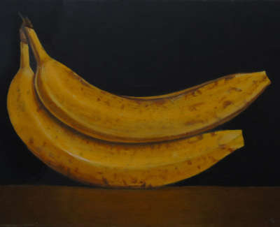 James Fairgrieve Rsa Rsw  Spooning Bananas  Acrylic On Board £1100 00Web