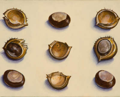 James Fairgrieve  Chestnuts  Acrylic On Gesso On Board 14 5 X 20 Cm £1200 00