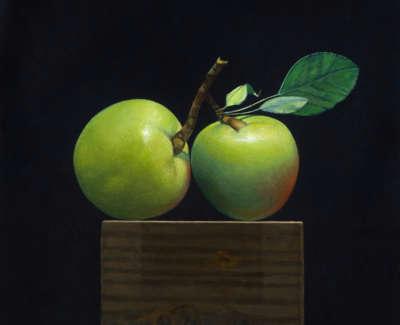 James Fairgrieve  Double Windfall  Acrylic On Gesso On Board 30 5 X 30 5 Cm £1995 00