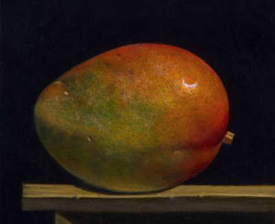 James Fairgrieve  Little Mango  Acrylic On Gesso On Board 14 5 X 20 Cm £1200 00